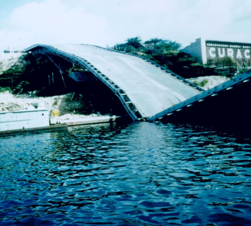 The bridge had collapsed